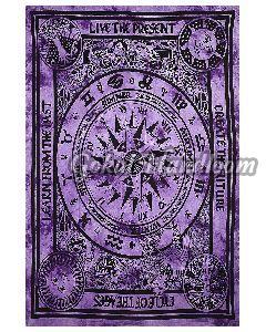Purple Sun Moon Cotton Wall Hanging Tapestry