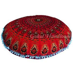 Red Mandala Cushion Cover