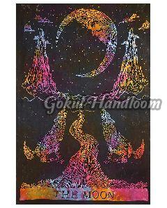 The Moon Cotton Wall Hanging Tapestry
