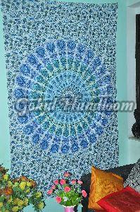 Throw Peacock Mandala Cotton Wall Hanging Tapestry