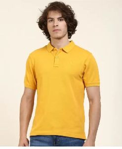 Mens Yellow Polo T Shirt