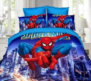 Cartoon Printed Bedsheet Set