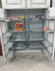 Double Wire Shelf Pantry Unit