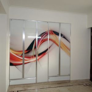 Glass Bedroom Wardrobe