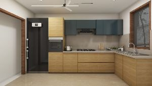 PU High Gloss Modular Kitchen