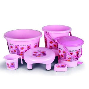 Plastic Bathroom Set
