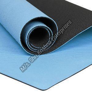 Double colour Sky Blue Yoga mat