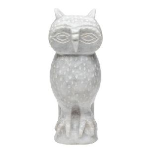 Marble Owl Statue