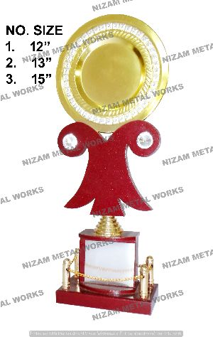 Wooden Trophy With Plate