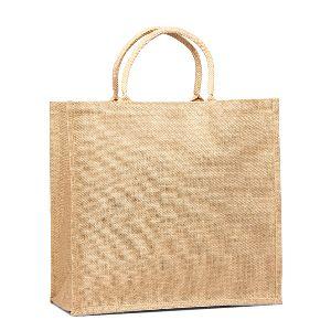 Burlap Square Shoulder Sling Tote Bag