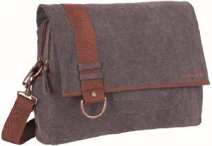 Grey Canvas Messenger Bag