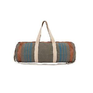 Vintage Look Canvas Duffle Bag