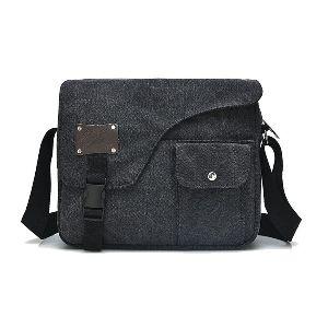 Waxed Canvas Front Pocket Messenger Bag