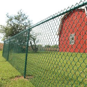 Garden PVC Coated Chain Link Mesh Fence