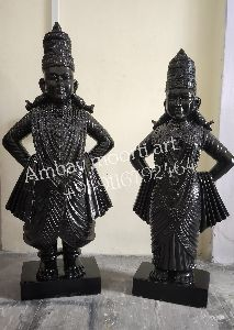 Marble Vitthal Rukmini Statue